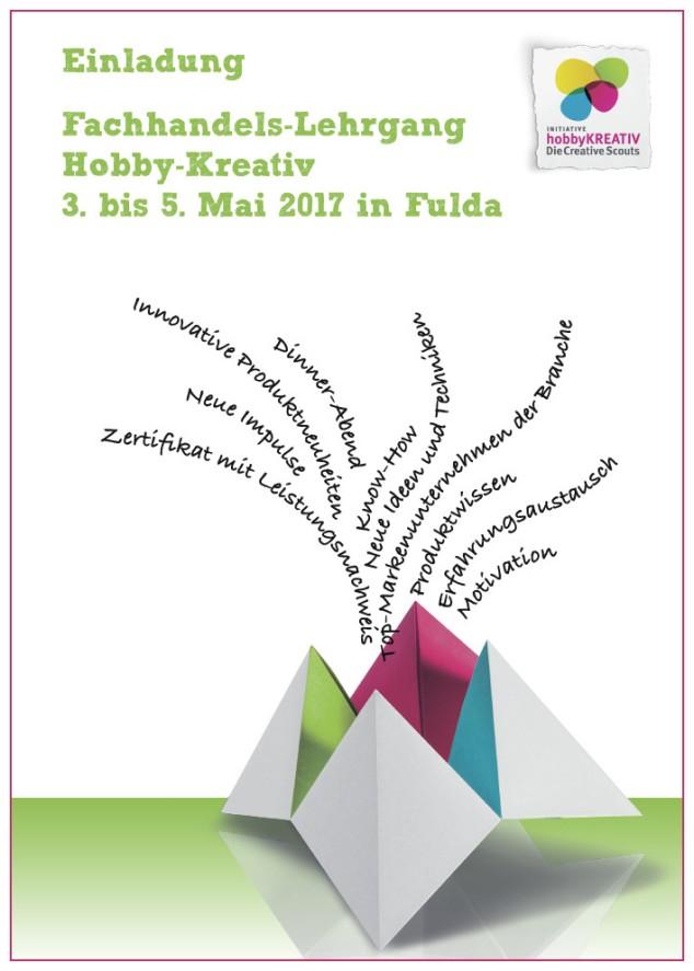 Einladung zum neuen Fachhandels-Lehrgang Hobby-Kreativ